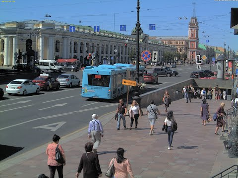 LIVE CAMERA Nevskiy avenue St. Petersburg Russia. Невский пр