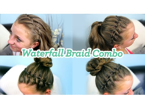 Hairstyles For Prom Cgh : Waterfall braid combo cute girls hairstyles youtube