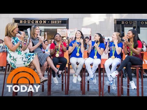 Simone Biles And Final Five Reunite With Hoda Kotb, Talk Tokyo Olympics | TODAY