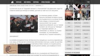 Eruviel Ávila se auto premia con medalla