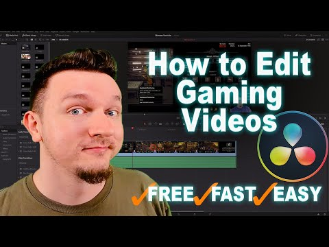 How To Edit Gaming Videos For Free With Davinci Resolve - Easy Davinci Resolve Tutorial