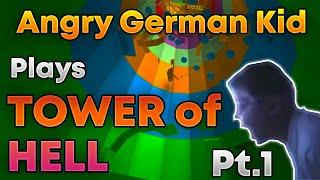 Wütendes deutsches Kind spielt Tower of Hell Roblox