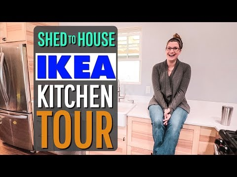 IKEA KITCHEN Tour of our Shed to House Conversion