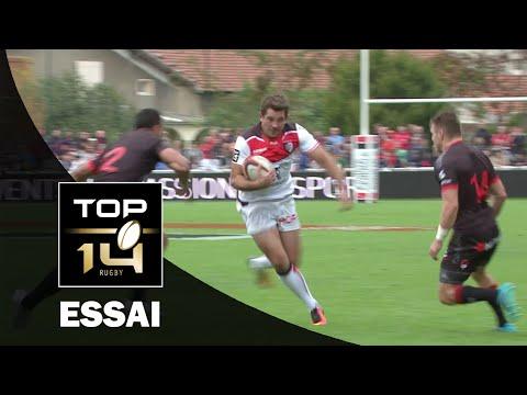 TOP 14 ‐ Essai Paul PEREZ (ST) – Lyon-Toulouse – J5 – Saison 2016/2017