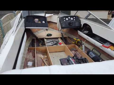 Boat deck & floor restoration Tutorial, how to fix, mend and replace rotten plywood, fiberglass
