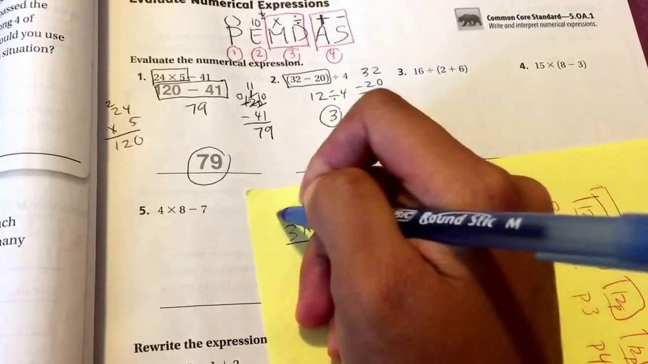 1-11: Evaluate Numerical Expressions - YouTube [ 720 x 1280 Pixel ]