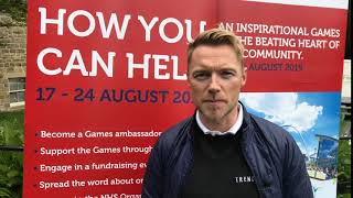 Ronan Keating promoting The World Transplant Games 2019
