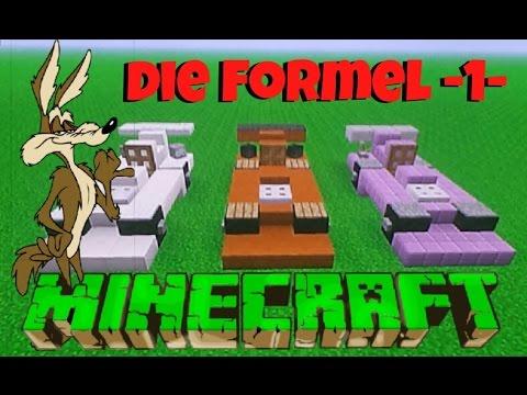 minecraft formel 1 wagen aufbau anleitung mach dich bereit youtube. Black Bedroom Furniture Sets. Home Design Ideas