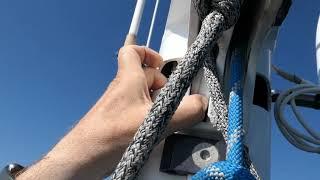 Замена грота-блока на катамаране Privilege 495. В океане на Шамане. Серия 73.