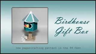 3d Birdhouse Svg Paper Crafting Pattern