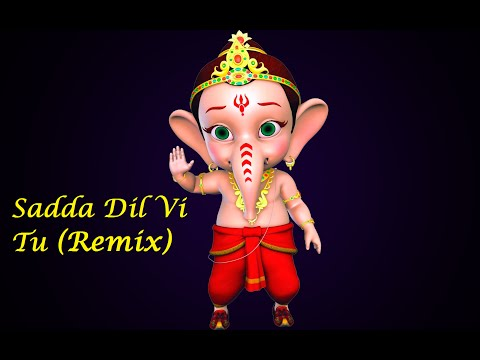 Baby Ganesha dancing on Sadda Dil Vi Tu (Remix) HD