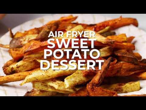 Air Fryer Sweet Potato Fries Dessert (Refined Sugar Free)