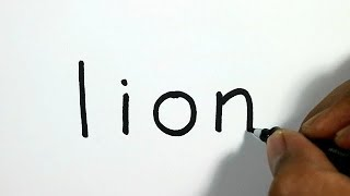 How to Turn Words Lion into a Cartoon