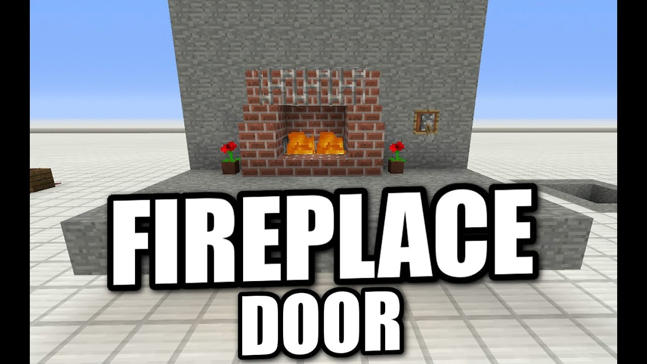 how to make a secret fireplace in minecraft pe