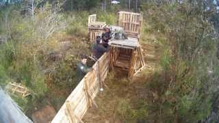 Airsoft Village : Construction Du Fort Côté Jungle.