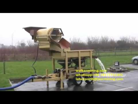 Mobile Trommel Screen And Jig Separator Wash Plant For Gold ,diamond,tin Processing