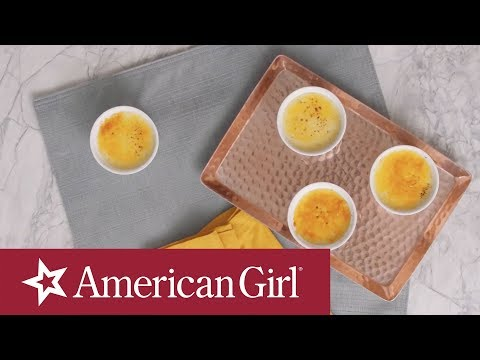 Crème Brûlée (Dairy-Free) | Blaire Wilson's Farm-To-Table Recipes | @American Girl