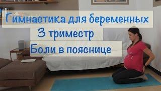 Гимнастика для беременных 3 триместр. Упражнения от боли в пояснице.