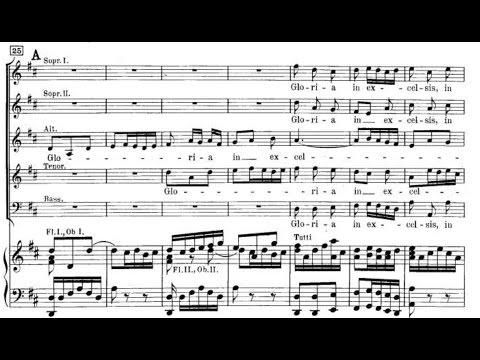 Bach - Mass in B minor, BWV 232 - IV. Gloria (with score)