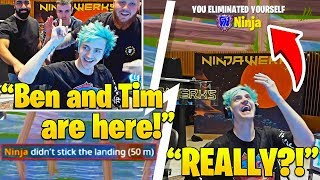 NINJA Gets TROLLED by DrLupo and TimTheTatman IN REAL LIFE! - Fortnite FUNNY Moments