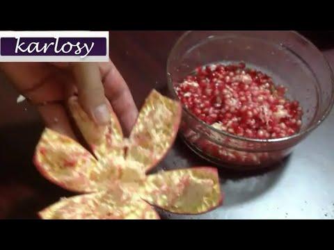 تعلم هذه الطريقة الرائعة لتقطيع و تقشير الرمان بلحظات وبطريقة سهلة Peeling Granadas Youtube