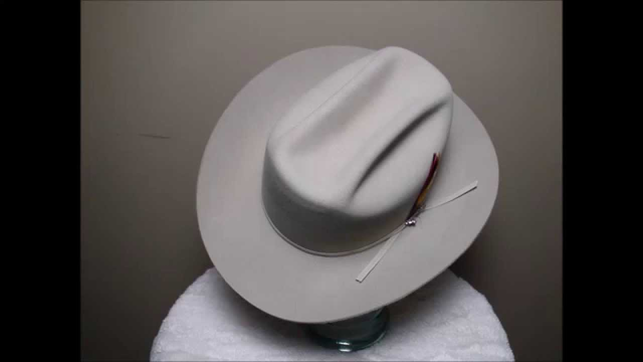 c82b4a2aa7 Stetson 4X Beaver Silverbelly Western Cowboy Hat - YouTube
