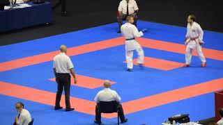 Plakhutin Evgeny - Dasoul Michael, European karate Championship 2018,  60kg