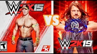 WWE 2K15 Finishers VS  WWE 2K19 Finishers Comparison (Which Game Finishers is Best)
