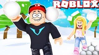 SNOWSHOE FIGHT IN ROBLOX! VITO VS BELLA