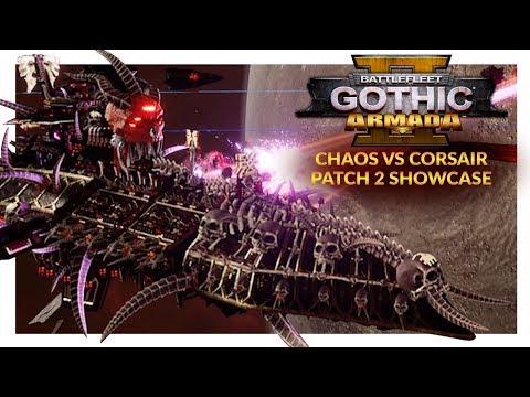 BATTLEFLEET GOTHIC ARMADA 2 (Patch 2)   Chaos vs Corsairs (Ranked 1v1)
