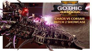BATTLEFLEET GOTHIC ARMADA 2 (Patch 2) | Chaos vs Corsairs (Ranked 1v1)