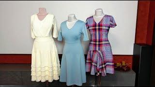 Три платья сшитые за два дня. Анонс урока платье в клетку