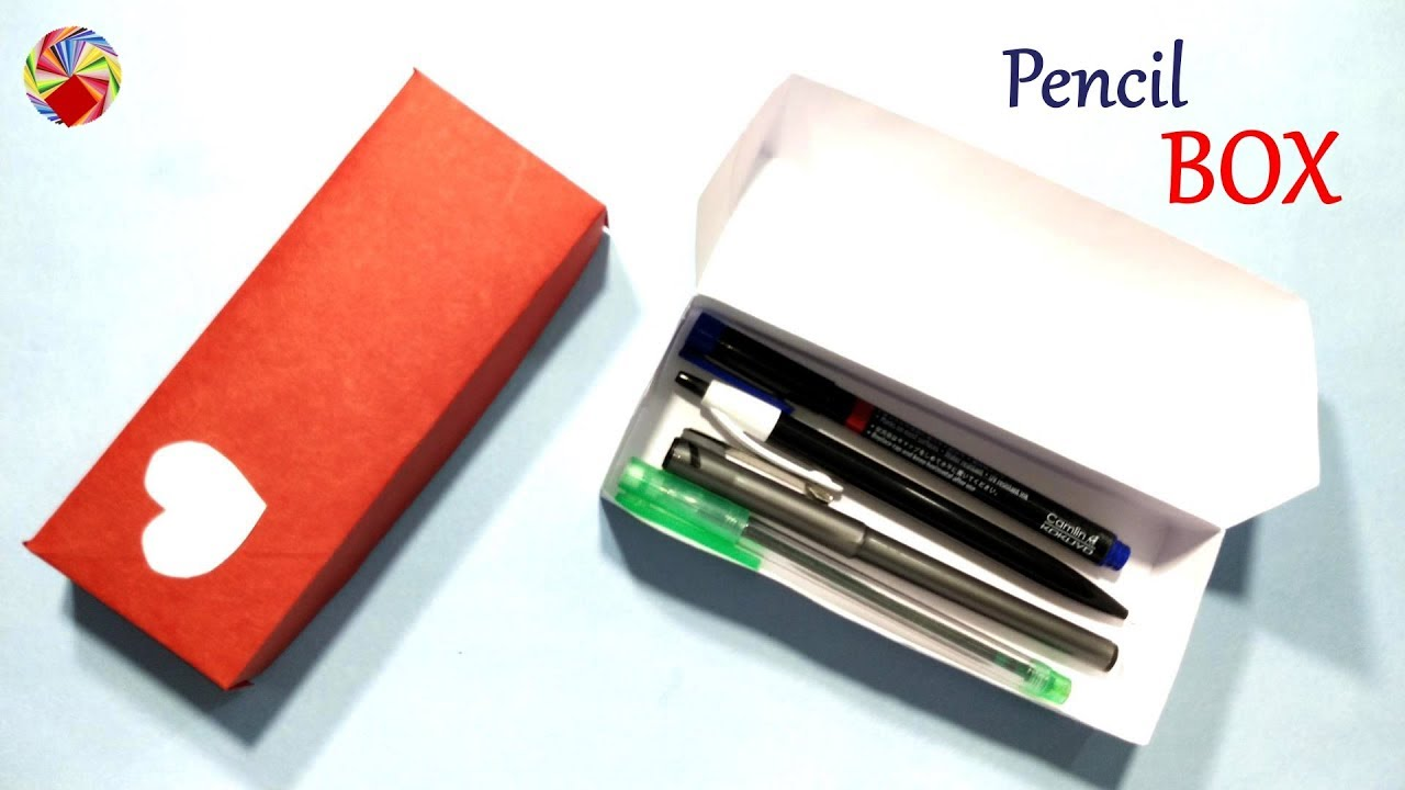 how to make origami paper Pencil Box? - YouTube | 720x1280