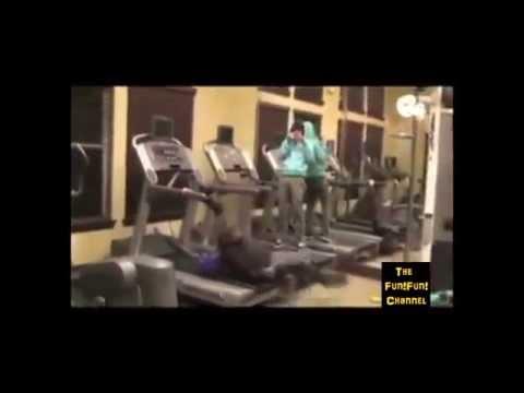 【おバカ映像集】ランニングマシン ハプニング動画