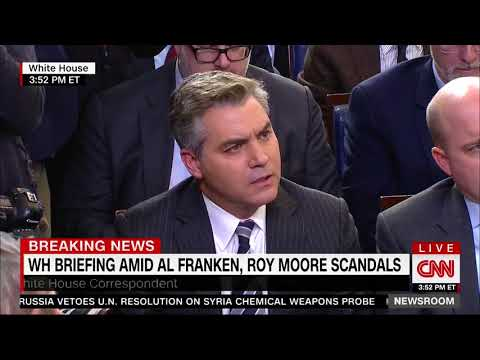 Jim Acosta asks Huckabee Sanders if she thinks Roy Moore is a creep