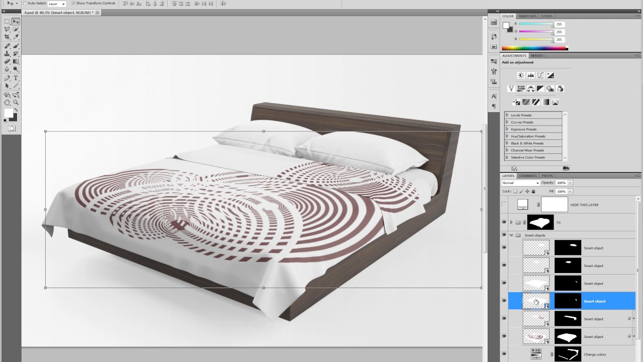 bedding set mockup tutorial - YouTube