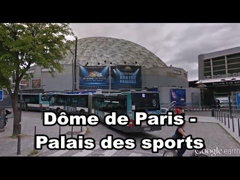 Dôme de Paris - Palais des Sports, Paris - Île-de-France - France - salle omnisports - Google Earth