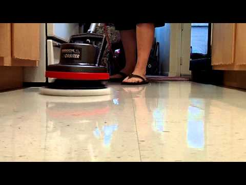 Spray Buffing A Waxed Floor With Oreck Orbiter
