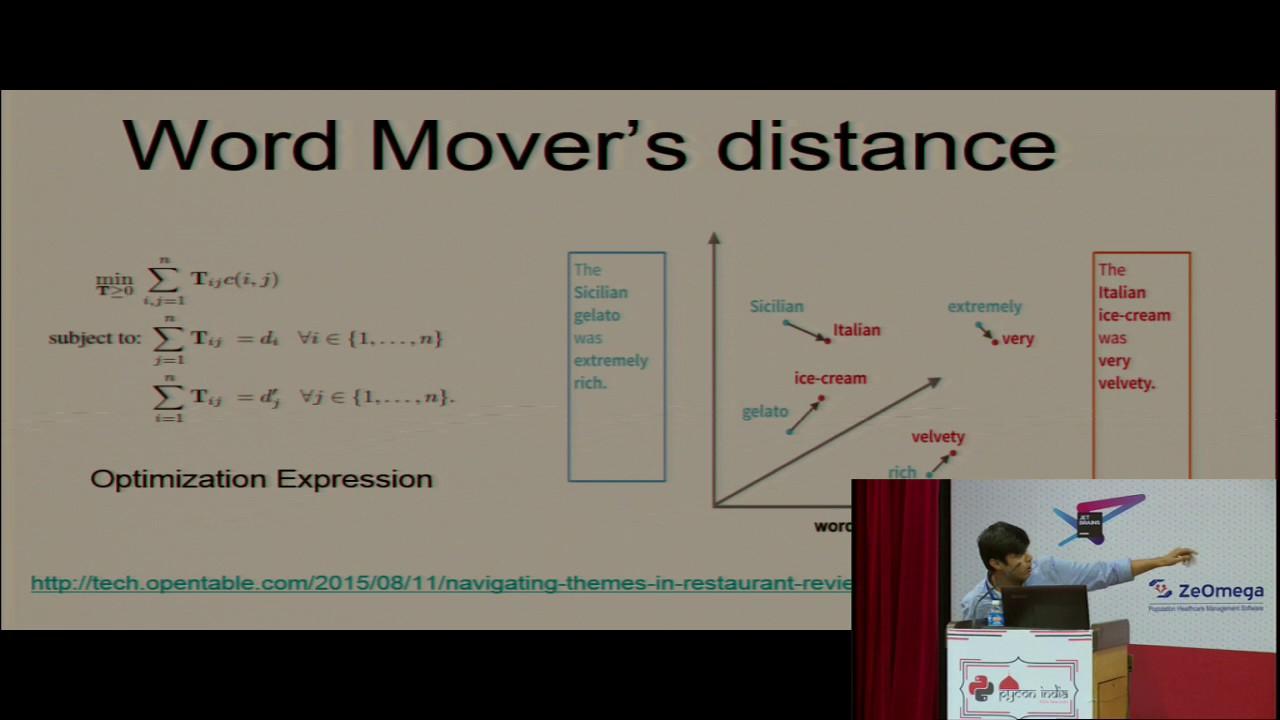 Word mover distance by Rishabh Goel 4:58