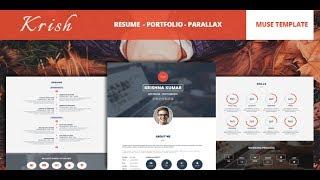 Krish Parallax One Page Resume & Portfolio Muse Theme Documentation