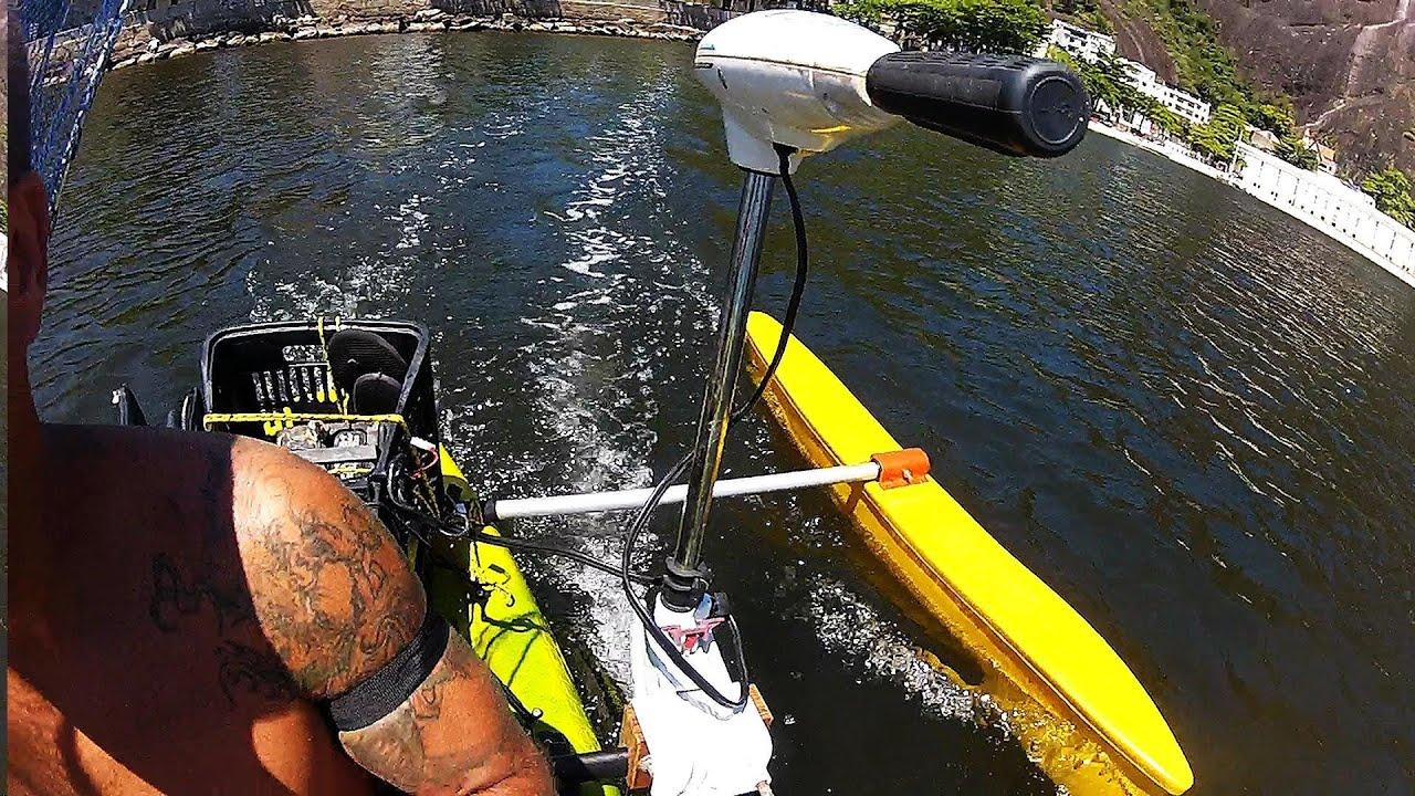 Caiaque Hunter Fishing Com Motor El 233 Trico Pesca Com