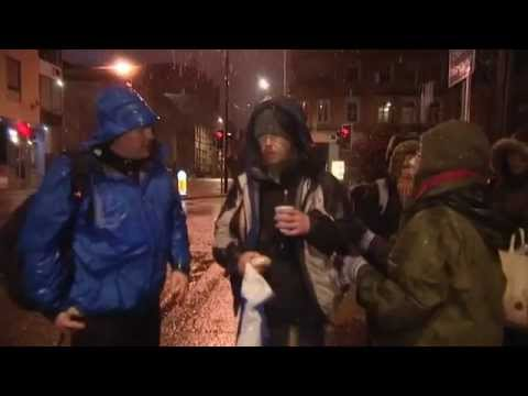 Freezing and homeless in Manchester by Sarah Rogers ITV Granada