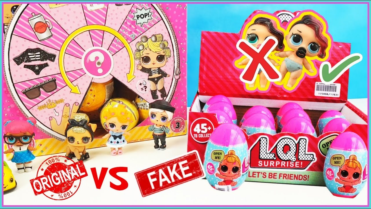 LOL surprise Original VS Fakes. Reto con Huevos sorpresa LQL