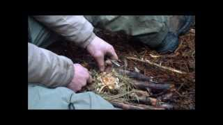 Tarp Shelter and Fire In Rainy Conditions