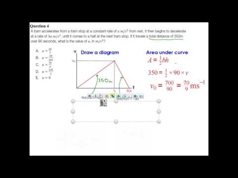 Kinematics SAC and EXAM questions worked solutions