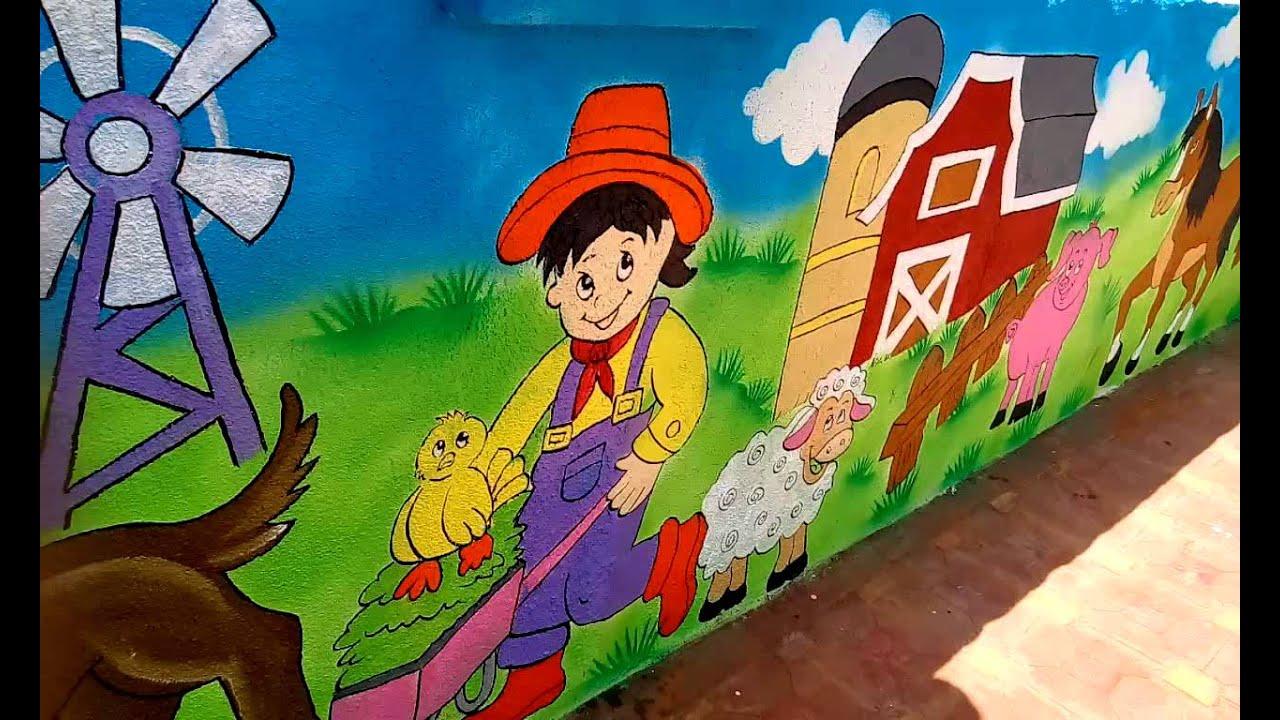 Preschool or Playschool Classroom Wall Theme Painting India - YouTube