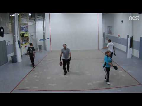 A-1 Paddleball: Jay/Kathy vs. Mark/Scott 4/4/17