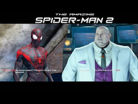 Miles Morales Suit vs Kingpin - The Amazing Spider-Man 2 Game (2014)