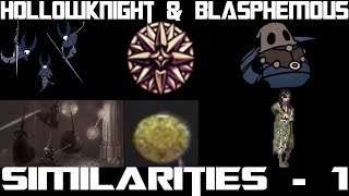 Hollow knight and Blasphemous similarities , mantis lords , Cloth and dreamshield