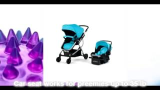 Urbini Omni 3-in-1 Travel System, Convertible Pram Stroller, Infant Carrier Car Seat With Base